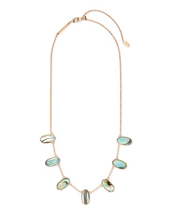 Kendra Scott ~ Meadow Statement Necklace (Abalone Shell/Rose Gold)
