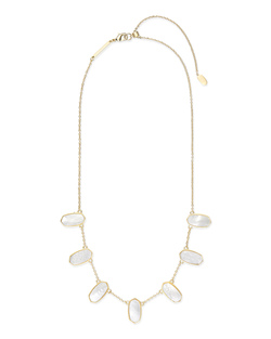Kendra Scott ~ Meadow Statement Necklace (Ivory Mother of Pearl/Gold)
