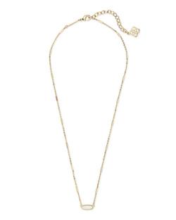 Kendra Scott ~ Miya Pendant Necklace (Ivory Mother of Pearl/Gold)