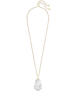 Kendra Scott ~ Cam Pendant Necklace (Ivory Mother of Pearl/Gold)