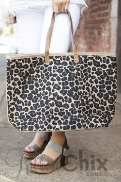 Leopard Jute Bag