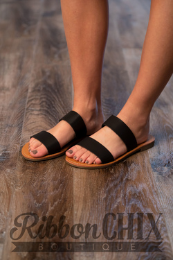 Melbourne Sandal in Black