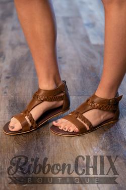 Roan Posey Sandal in Tan