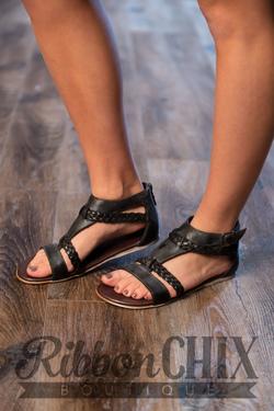 Roan Posey Sandal in Black