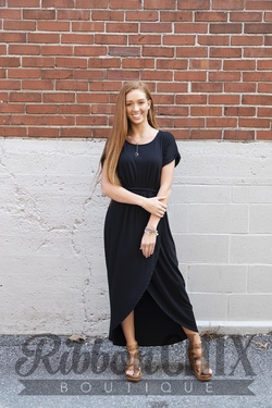 Right On Cue Dress in Black
