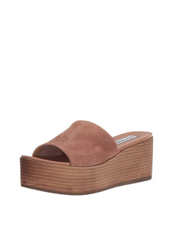 Steve Madden Tan Suede Heated Wedges