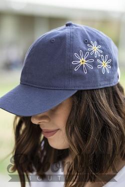 Chix Made ~ Daisy Daze Hat (Blue)