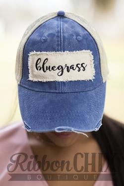Chix Made ~ Bluegrass Patch Hat (Blue)