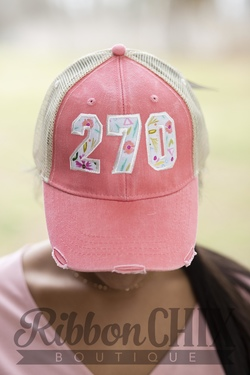 Chix Made ~ Area Code Cap (Peach/Floral)