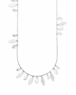 Kendra Scott ~ Blaine Necklace in Bright Silver