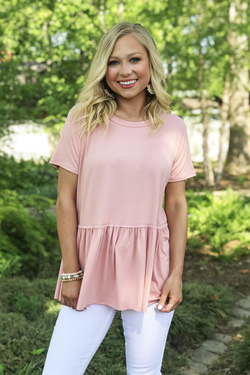 On The Go Style Top (Blush)