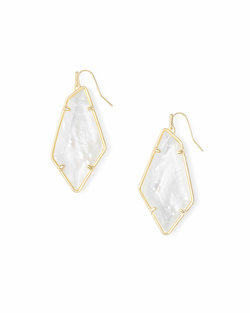 Kendra Scott ~ Emmie Earring in Gold Mother of Pearl