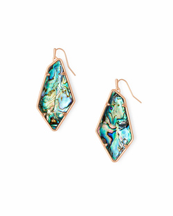 Kendra Scott ~ Emmie Earring in Rose Gold Abalone Shell