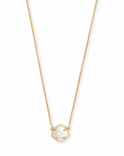 Kendra Scott ~ Jaxon Necklace in Gold/Mother of Pearl