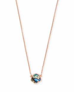 Kendra Scott ~ Jaxon Necklace in Rose Gold/Abalone Shell