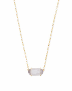 Kendra Scott ~ Ever Necklace in Gold/Slate Cats Eye