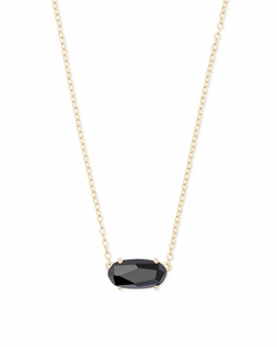 Kendra Scott ~ Ever Necklace in Gold/Black Opaque Glass