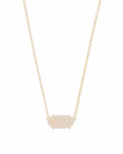 Kendra Scott ~ Ever Necklace Gold/Iridescent Drusy