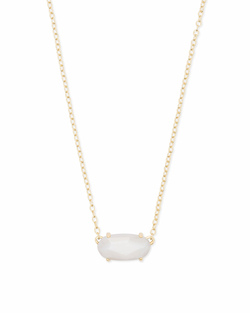 Kendra Scott ~ Ever Gold Pendant Necklace in White Mother of Pearl