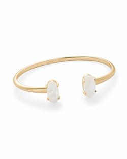 Kendra Scott ~ Edie Bracelet in Gold/Ivory Mother of Pearl