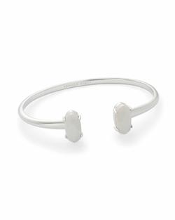 Kendra Scott ~ Edie Bracelet in Silver/White Mother of Pearl