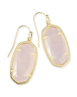 Kendra Scott ~ Dani Earring in Gold/Rose Quartz