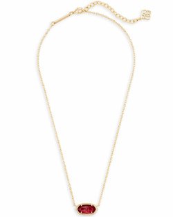 Kendra Scott ~ January Birthstone, Elisa Pendant Necklace in Berry