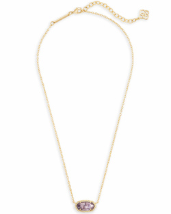 Kendra Scott ~ February Birthstone, Elisa Pendant Necklace in Amethyst