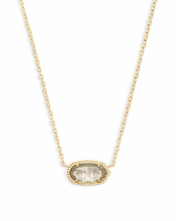 Kendra Scott ~ April Birthstone, Elisa Pendant Necklace in Clear Crystal