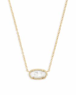 Kendra Scott ~ June Birthstone, Elisa Pendant Necklace in Ivory Mother of Pearl