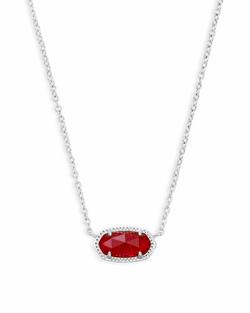 Kendra Scott ~ July Birthstone, Elisa Pendant Necklace in Ruby Red