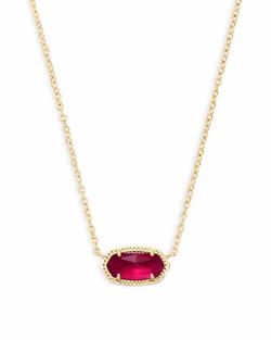Kendra Scott ~ October Birthstone, Elisa Pendant Necklace in Berry Illusion