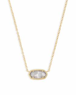 Kendra Scott ~ Elisa Gold Pendant Necklace In Slate