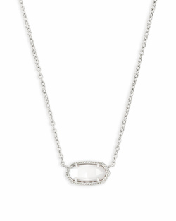 Kendra Scott ~ Elisa Silver Pendant Necklace In White Pearl