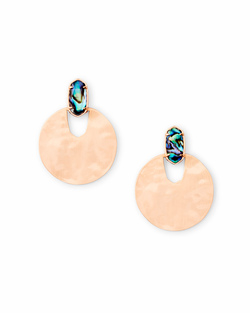 Kendra Scott ~ Deena Rose Gold Hoop Earrings In Abalone Shell