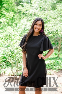 Moment By Moment Black Dress