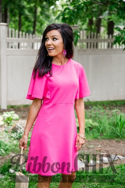 Moment By Moment Hot Pink Dress