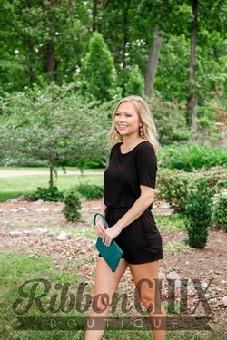 A Little Diddy Black Romper