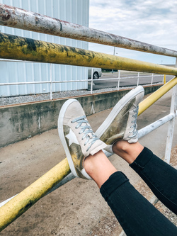 No Mishaps Gold Sneaker