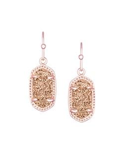 Kendra Scott Lee Earring in Rose Gold Drusy Jewelry Ribbon Chix