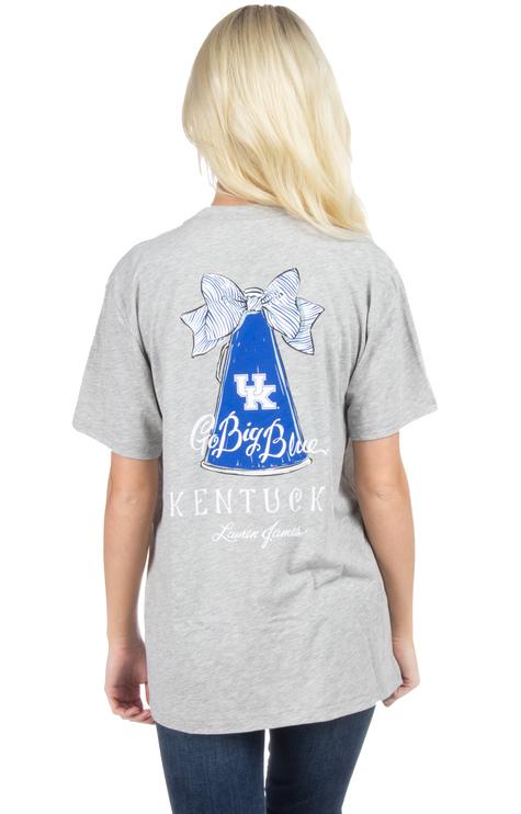 Go Big Blue Kentucky >> Lauren James ~ Kentucky Megaphone T-shirt | Women's Tops | Ribbon Chix