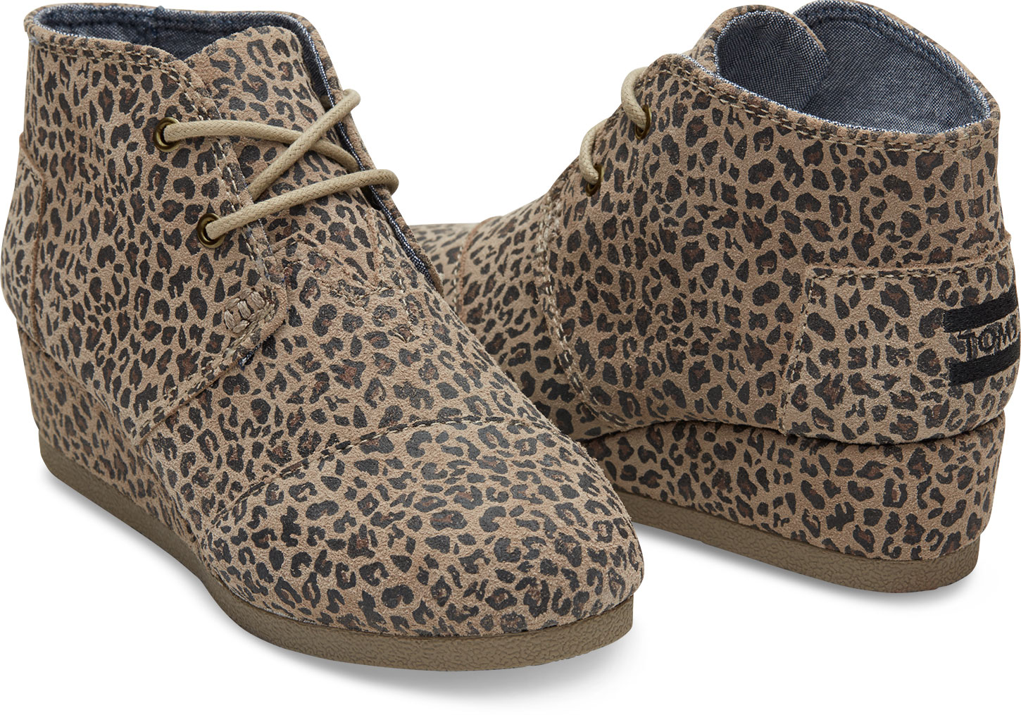 27fab30fac9 TOMS Desert Wedge ~ Cheetah Suede (Children)