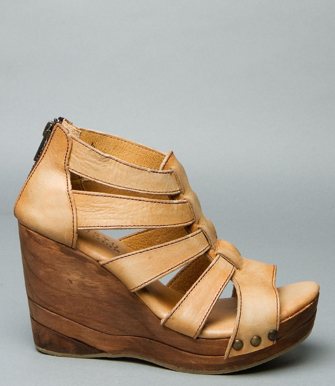 Bed Stu Olinda Wedge Natural Driftwood Shoes