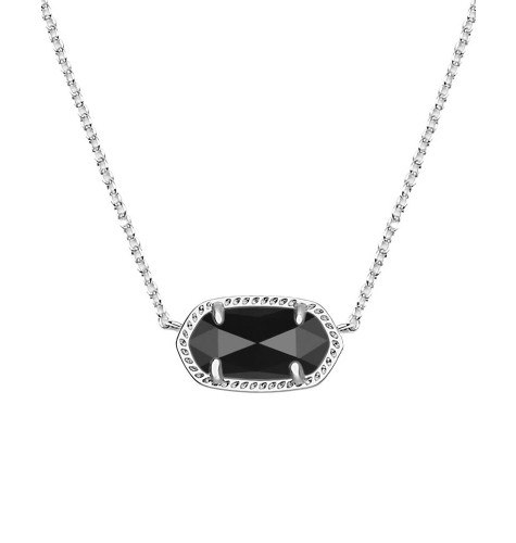 Kendra scott ribbon chix kendra scott elisa silver pendant necklace in black aloadofball Choice Image