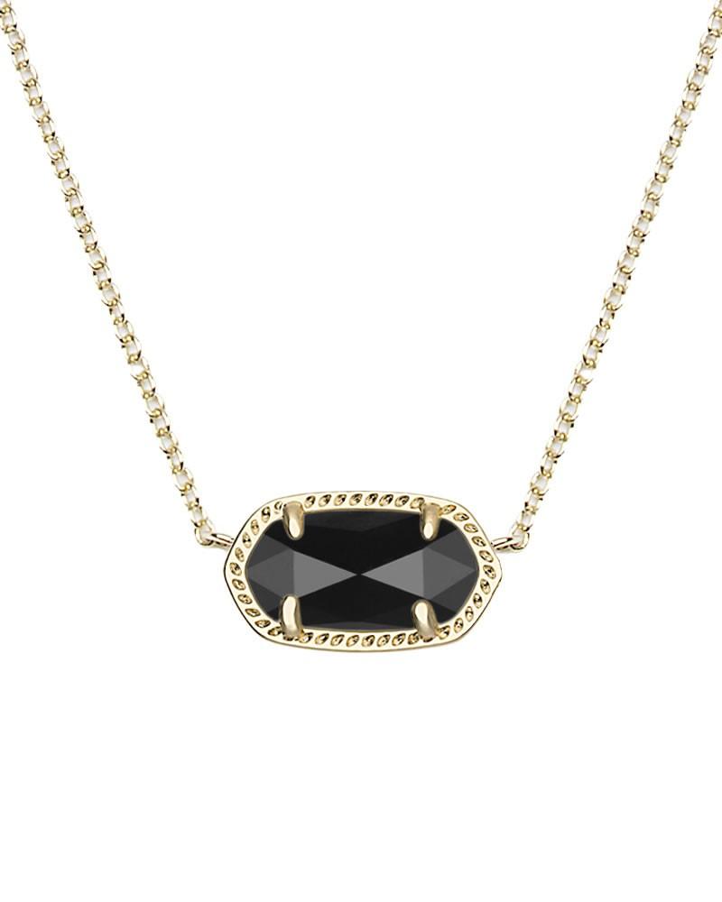 Kendra scott elisa gold pendant necklace in black jewelry kendra scott elisa gold pendant necklace in black aloadofball Images