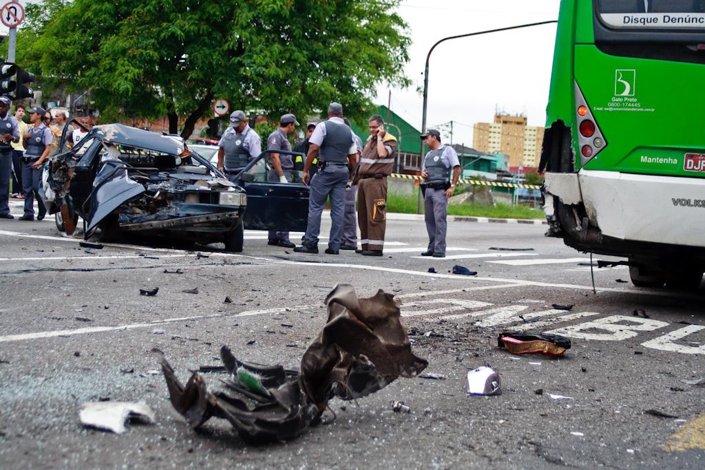 Zona leste ocupa segundo lugar em número de socorridos por acidentes de trânsito