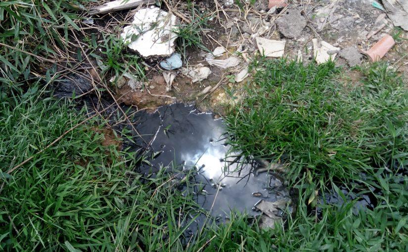 Moradoras da Jova Rural reclamam de esgoto a céu aberto em terreno da CDHU