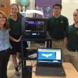 Roanoke Catholic School engineering class with 3D printer