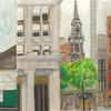 Elise Engler, Murray St.-Park Pl./ Park-Barclay St./Barclay St.-Vesey (Ann) Street (June), 2014-15