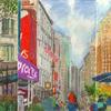 Elise Engler, W.35-34/34-33rd Street (November), 2014-15